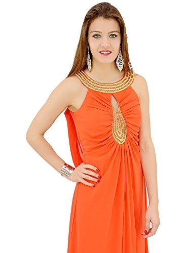 Robe Orange Longue de Soirée Orange