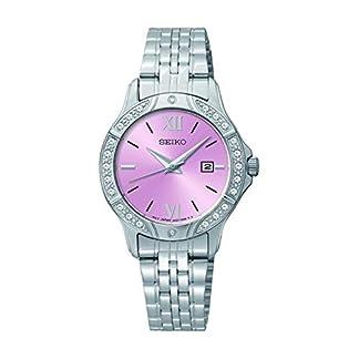 Seiko – Reloj de Pulsera para Mujer, Esfera Rosa, Acero Inoxidable (reacondicionado)