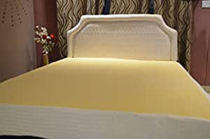 Trance Home Linen Waterproof Dustproof Mattress Bed Protector_Cotton Terry_ King Size 78x72_Ivory Yellow