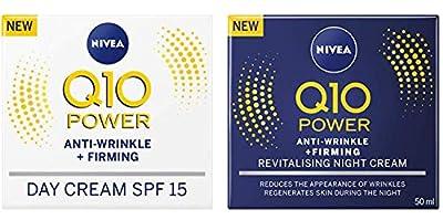 Nivea Q10 SPF 15 Anti-Wrinkle Face Day Cream Plus Face Night Cream, 50 ml