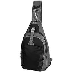 Mochila lateral para hombro, para gimnasio, aire libre, bicicleta, color Largr-Black, tamaño large