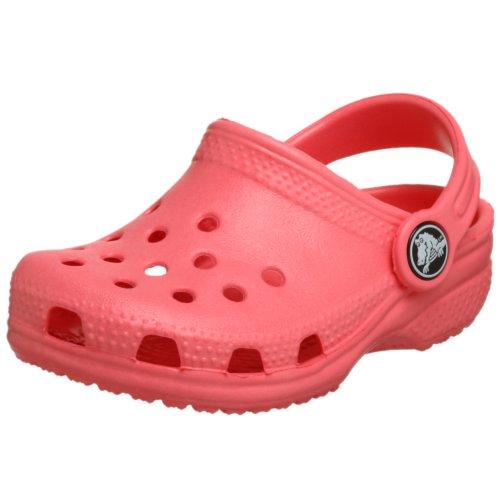 Crocs Unisex Kids' Classic rounded tips pink Size: 2.5 UK