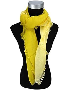 pañuelo en amarillo limón monocromo gradiente con refriega - tamaño 100 x 100 cm