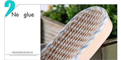 Slip On Pantofole Happy Lily antiscivolo punta aperta Unisex coppie Sandalo Organic Lino da umidità fresco lino pantofole scarpe per interni o esterni Red