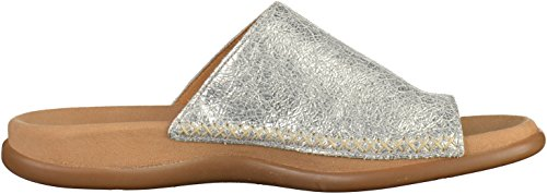 Gabor Shoes Fashion, Ciabatte Donna Silber