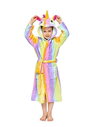 DRESHOW Doux Licorne Peignoir à Capuche Vêtements de Nuit - Cadeaux de Licorne pour Filles