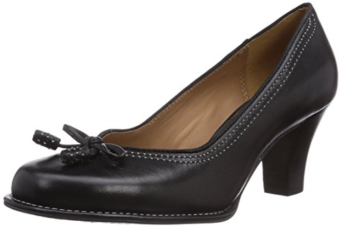 Clarks Bombay Lights, Damen Pumps, Schwarz (Black Leather), 39 EU (5.5 Damen UK)