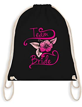 JGA Junggesellinnenabschied - Team Bride Blume Pink - Turnbeutel I Gym Bag