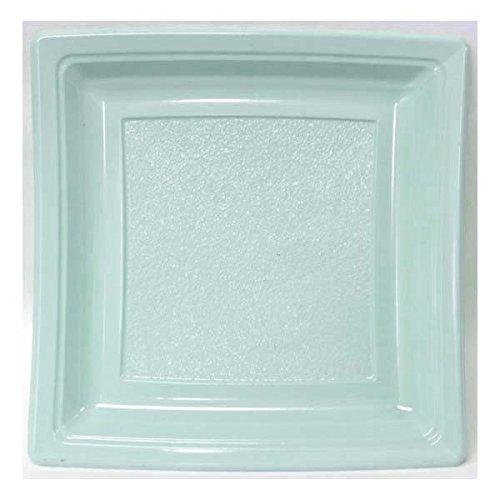Quadripack - Assiette Plastique Carrée 185Mm Bleu Ciel Par 50