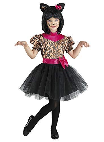 Clown Republic 15906/06 - Disfraz de tigre para niña, color blanco