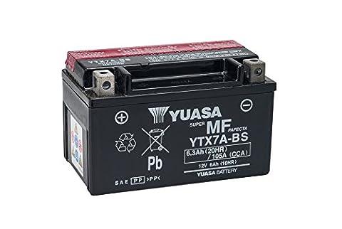 YUASA YTX7A-BS Powersports AGM Motorrad Batterie, wartungsfrei (Preis inkl. EUR 7,50 Pfand)