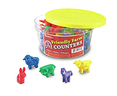 Learning Resources Friendly Farm Animal Counters (Set of 72) from Learning Resources