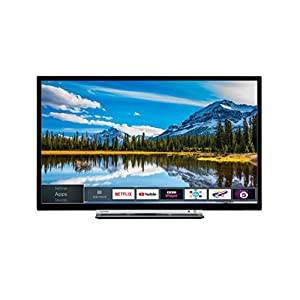Toshiba HD Ready Smart TV with Freeview Play – Chrome Black/Silver Matt