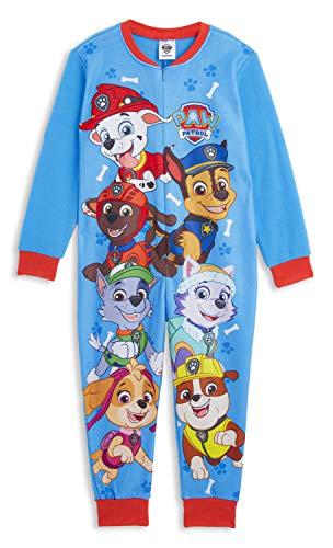 Pijama para niños de la Patrulla Canina   Personajes de Mono para niños   Skye, Chase y Marshall Onesie Pijama para niños y niñas   Todo en uno Niños PJ Jumpsuit Azul Azul 2-3 Años