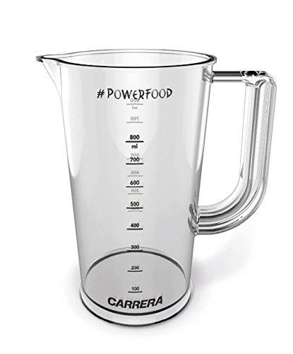CARRERA Messbecher mit Deckel verschließbar | für Stabmixer | Kunststoff (BPA frei) | 800 ml