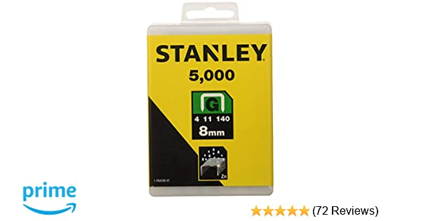 Stanley 1-TRA705-5T 8mm g-type heavy duty staples 5000 pièces