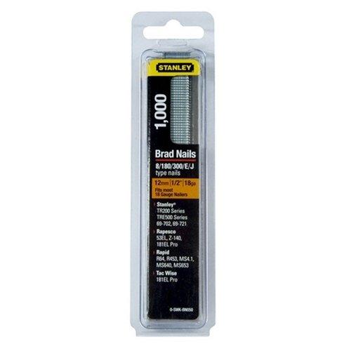 Stanley 0-SWKBN100 Lot de 1 000 clous Calibre 18