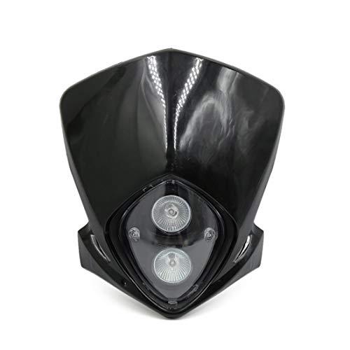 Projecteur Blanc Plastique Moto Universelle 12V 18W carénage Terre Lumière