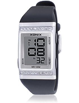 LEDWasserdichte Sportuhr/Jungen Kinder multifunktionale Diamond watch-C