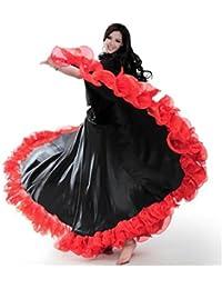 peiwen Disfraces de Mujeres en toros españoles Faldas Grandes Trajes de  Danza teatral 90e3d8c233a7