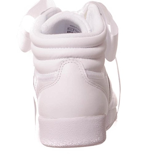 Grey Reebok White Femme Multicolore Satin skull Hi Hautes White Weiß Grey Freestyle Baskets skull Bow RRTwfHB1q