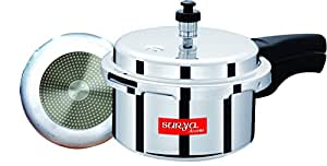 Surya Accent Outer-Lid Aluminium Pressure Cooker-3LTRS