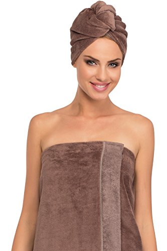 Merry Style Damen Wellness Turban 13007 (Braun/Braun, One Size)