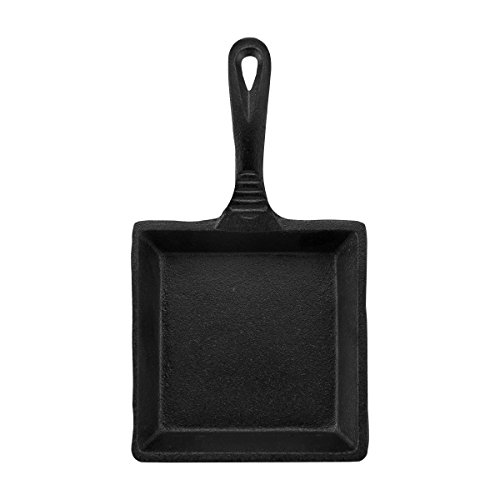CasaModa Mini-Topf aus Gusseisen Viereckige Mini-Bratpfanne Small Mini Square Fry Pan Calphalon Square Pan