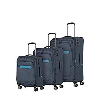 Travelite Travelite: «Madeira» – Sehr Leichte Trolleys, Trolley-Taschen, Reise- Und Bordtaschen Plus Weekender Juego de Maletas, 77 Centimeters