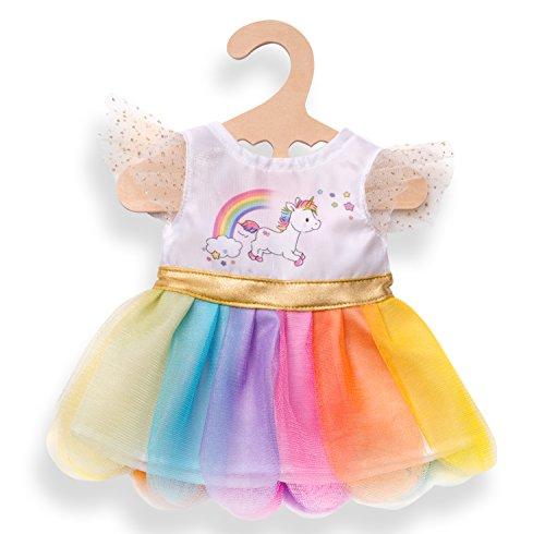 Zubehör Regenbogen Helles Kostüm - Heless 2850 - Kleid für Puppen, Einhorn Henri, Größe 35 - 45 cm