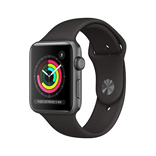Oferta de AppleWatchSeries3 (GPS) concaja de 42mm de aluminio engris espacial ycorrea deportiva - Negra
