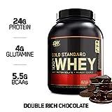 Optimum Nutrition 100% Whey Gold Standard, Proteine Whey in Polvere, Doppio Cioccolato, 2.27 kg, 74 Porzioni