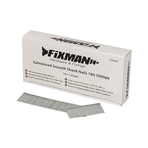 FIXMAN 856869verzinkt Glatte Schaft Nägel, Silber, 18g, von 5000Stück