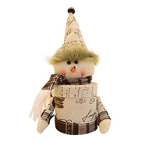 Sankt Claus Schneemann Elch Weihnachten Süßigkeiten Verpackung Weihnachten Süßigkeiten Glas Hirolan Schön Weihnachten Ornaments Geeignet zum Weihnachten, Boutique, Warenhäuser, Zuhause (Vampir Kostüm Diy)