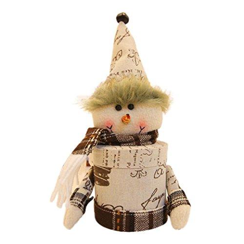 Sankt Claus Schneemann Elch Weihnachten Süßigkeiten Verpackung Weihnachten Süßigkeiten Glas Hirolan Schön Weihnachten Ornaments Geeignet zum Weihnachten, Boutique, Warenhäuser, Zuhause (D'halloween Kostüm Diy)