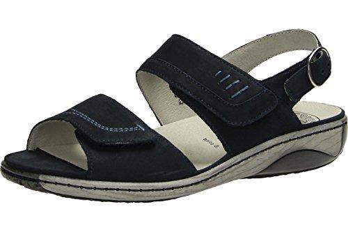 Waldläufer Garda 210001 191 217 Damen Komfort Sandalette Blau