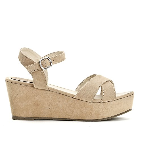 Obsel: Chaussures Et Chaussures - Cales Beige Femme