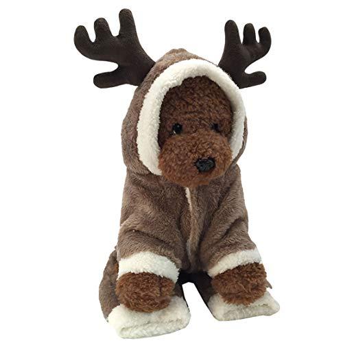 mama stadt Hund Katze Weihnachten Rentier Kostüm, Funny Pet Elk Kostüme Cosplay Kleid, Puppy Fleece Outfits Warm Hoodie Animal Festival Bekleidung Kleidung -