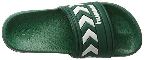 Hummel Larsen Slipper SMU, Chaussures de Plage et Piscine Mixte Adulte Vert (Evergreen)