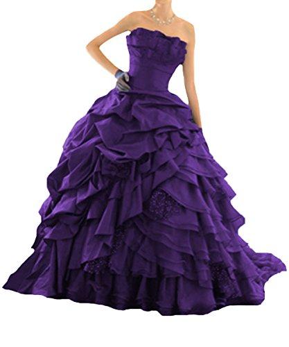 O.D.W Damen A-Linie Lange Tr?gerlos Gotisch Hochzeitskleider Vintage Brautkleider f¨¹r...