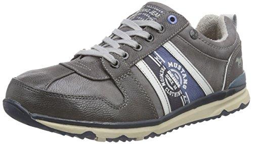 Mustang Schnürhalbschuh, Herren Sneakers, Grau (20 Dunkelgrau), 43 EU
