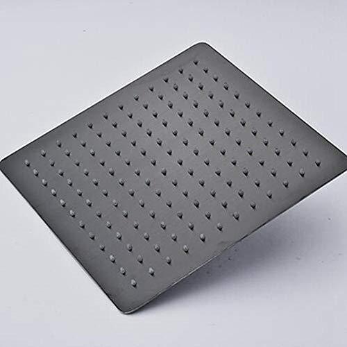 Quadratischer Duschkopf zur Wand- / Deckenmontage aus Messing mit Regenspray und Duschöl, Bronze, schwarz, Titan, 20 Zoll, 30 cm (Duschkopf Mit Druck-bronze)