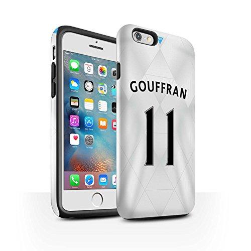 Offiziell Newcastle United FC Hülle / Glanz Harten Stoßfest Case für Apple iPhone 6+/Plus 5.5 / Sissoko Muster / NUFC Trikot Away 15/16 Kollektion Gouffran