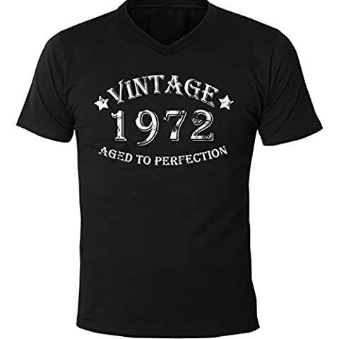 Mister Merchandise Uomo T-Shirt Vintage 1972 - Aged to Perfection