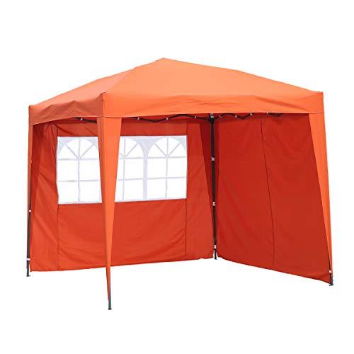 Angel Living® 2.5x2.5M Pavilion Faltbar Terassen Dach Wasserabweisend ausStahl und Polyester (Terracotta)