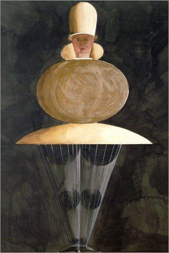 Poster 61 x 91 cm: Figurine von Oskar Schlemmer/akg-Images - hochwertiger Kunstdruck, neues - Oskar Schlemmer Kostüm