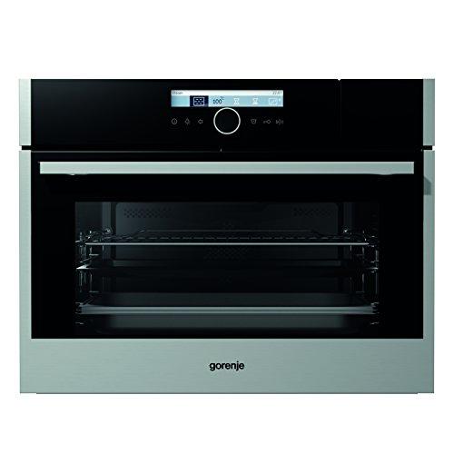 Gorenje BCS 589 S20X Kompakt-Kombi-Dampfgarer/Backmuffe Homemade 51 L/Edelstahl/StepBaking/inkl. Dampfgar-Set/Anti-Fingerprint