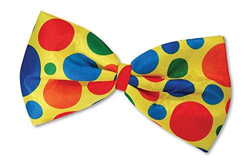 Clown Jumbo Bow Tie Accessory Fancy Dress
