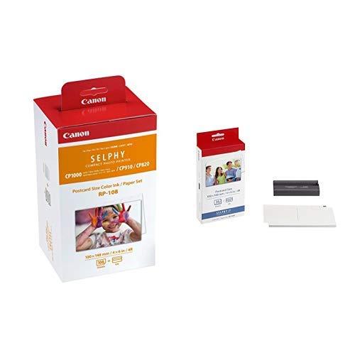 Serie Color Inkjet (Canon Druckerkartusche RP-108 und Papier für Selphy CP Fotodrucker Serie & 7737A001 KP-36IP photo paper inkjet 100x148mm 36 Blatt with ink cassette for CP-100)