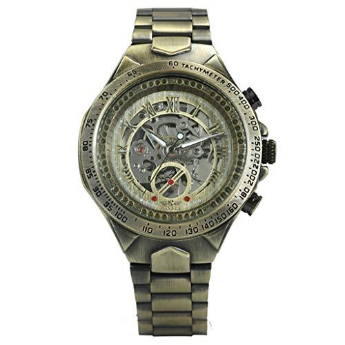 REALIKE Herren Mechanische Uhr,Metallband Retro Outdoor Laufen wasserdichte militärische Uhren, Classic große Anzeige Sportuhr mit für Männer Cool Sport Erwachsene Smart Watch